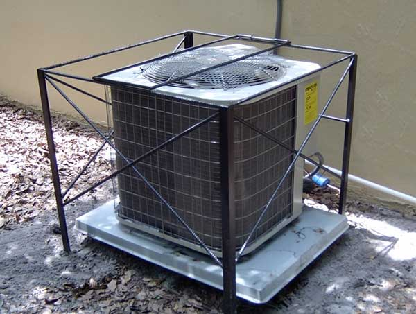 The Rookie AC Cage is a Simple and Affordable AC cage that Features a Lockable Top Gate