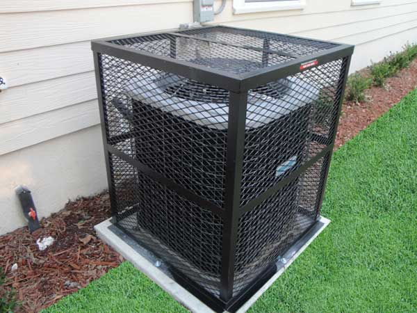 The Rigid AC Cage features a Fully Welded Design and is our Most Popular Air Conditioner Cage
