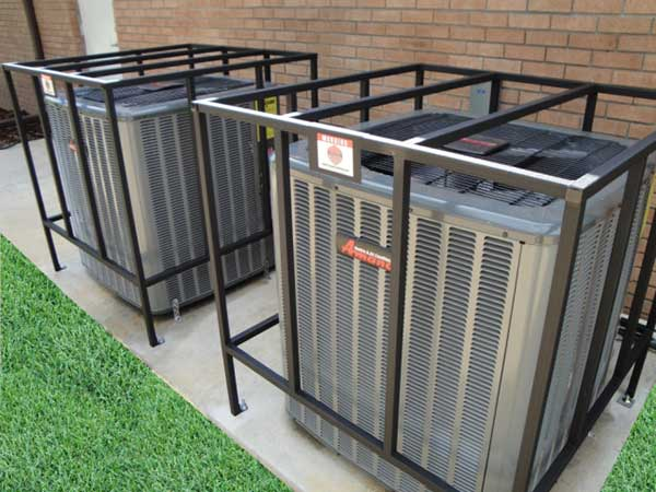 The Basic AC Cage is our economical square tube model air conditioner cage that is fully welded.