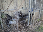 Chain link fences can't protect the AC Unit alone.