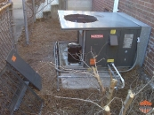 Another salvaged AC Unit by thieves!