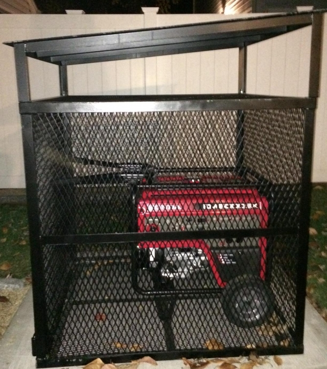 Generator Cages Custom Built By Property Armor